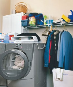 cluttered laundry 300 252x300 The Champion of Your Home Environment: Getting Ahead by Banishing Clutter